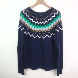 J. Crew blue cable knit sweater